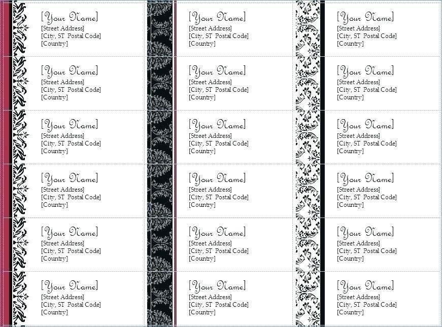 Staples Labels Template 5444