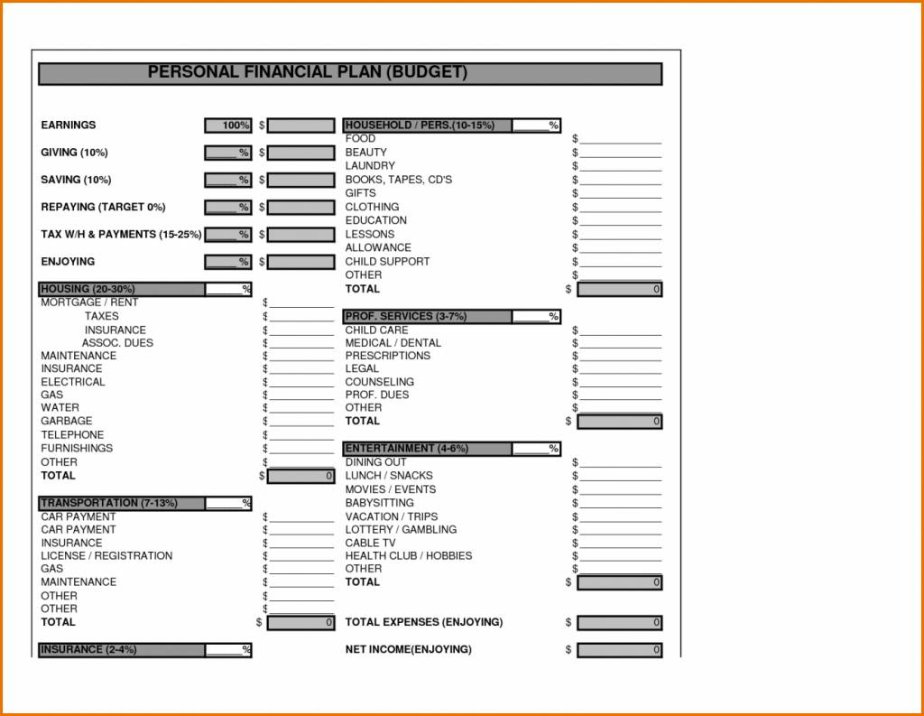 Startup Business Financial Plan Template Excel