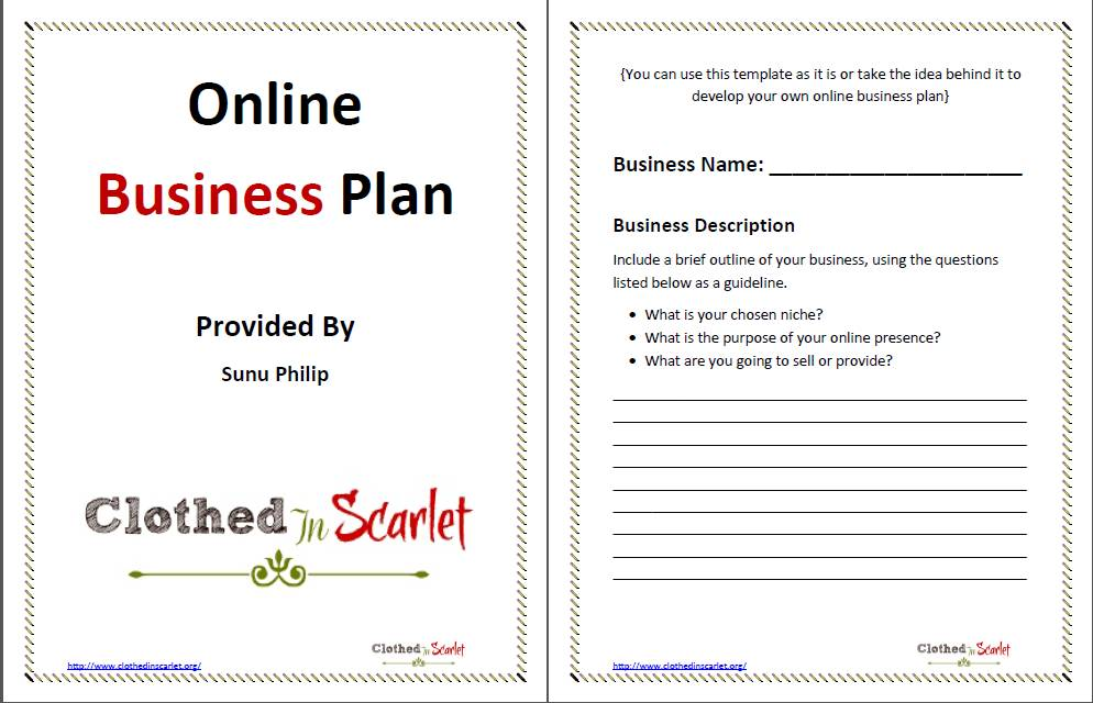 Startup Business Plan Template Free