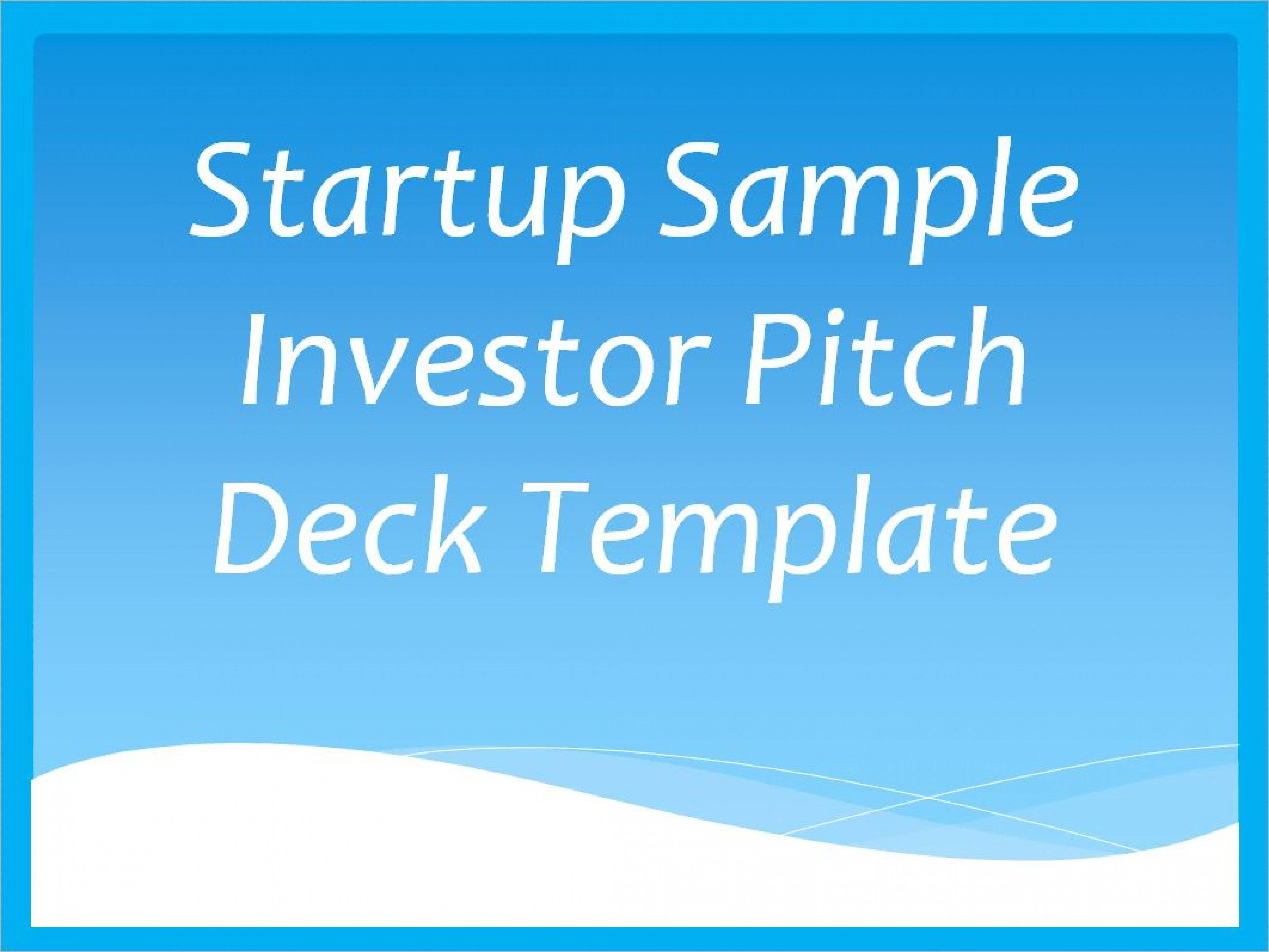 Startup Investor Pitch Deck Template