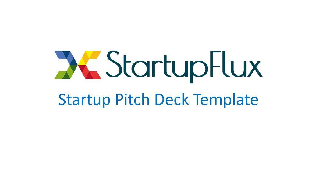 Startup Pitch Deck Template Ppt
