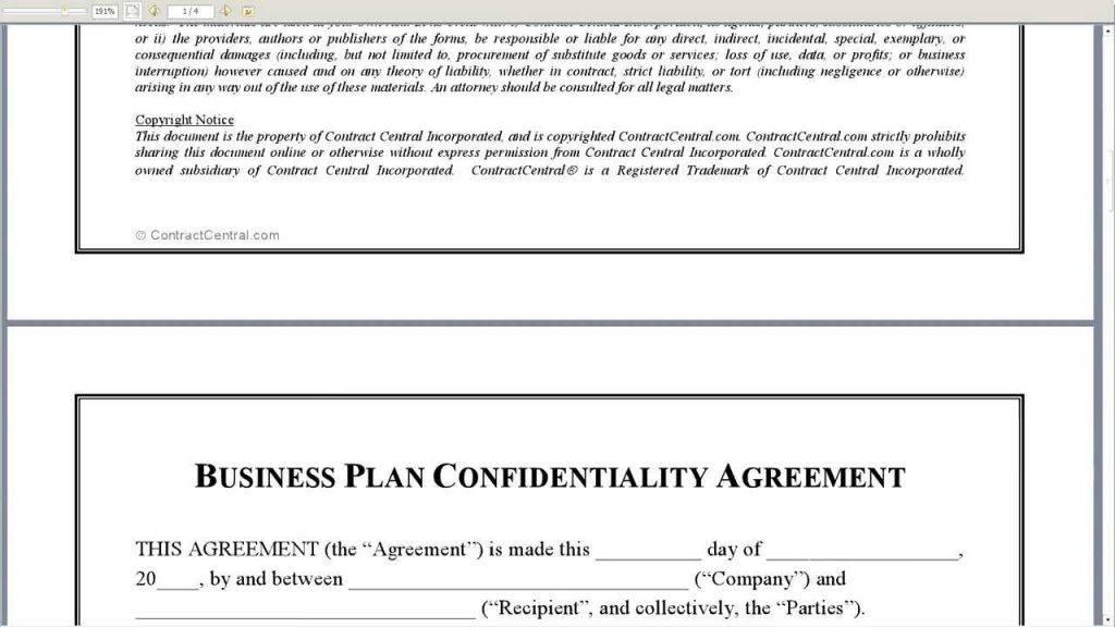 Statement Of Confidentiality Sample For Portfolio