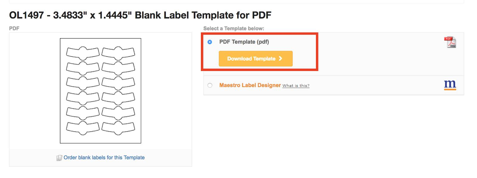 Sticker Label Template Psd
