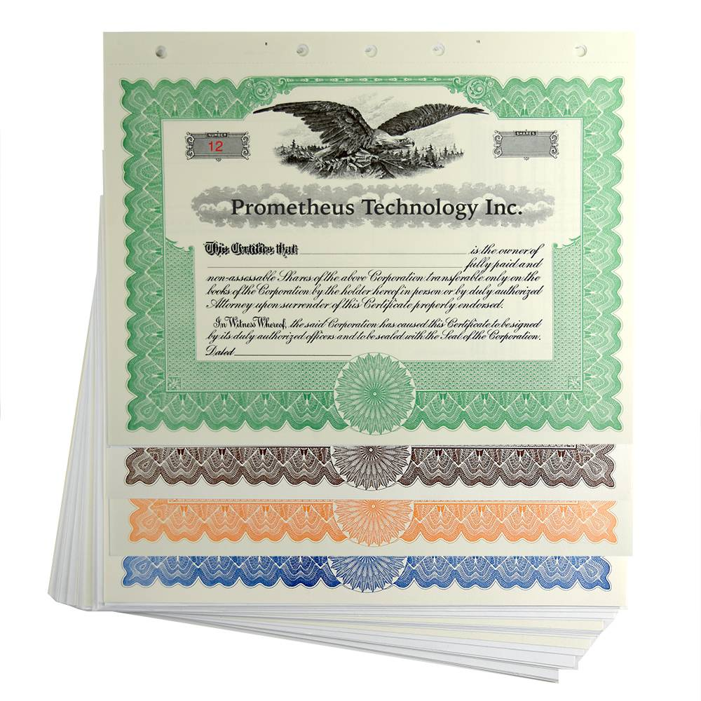 Stock Certificate Template Llc