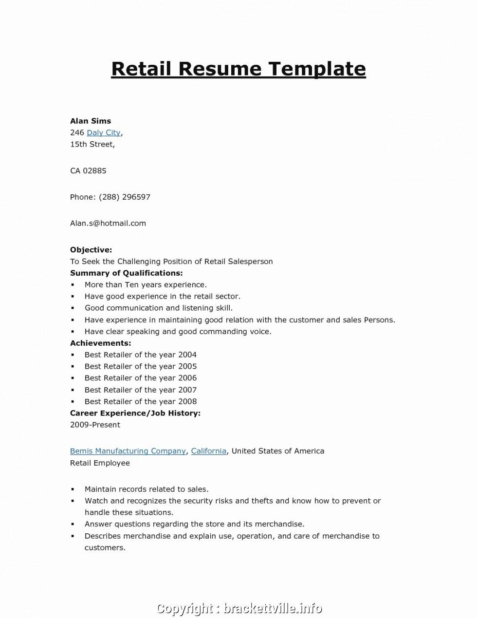Store Manager Cv Template
