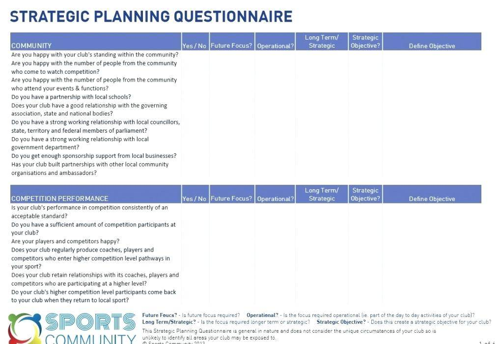 Strategic Planning Template With Excel Models