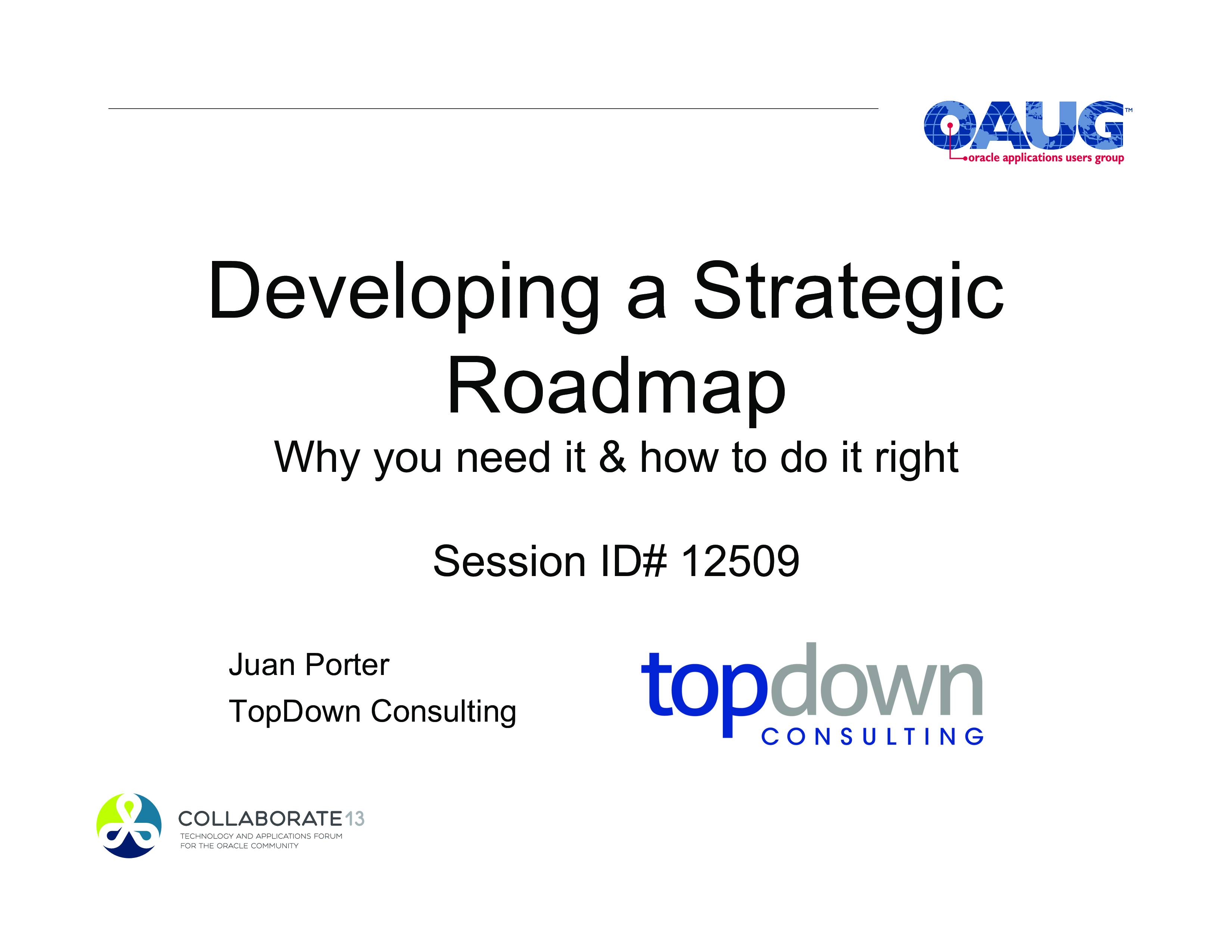 Strategic Roadmap Templates
