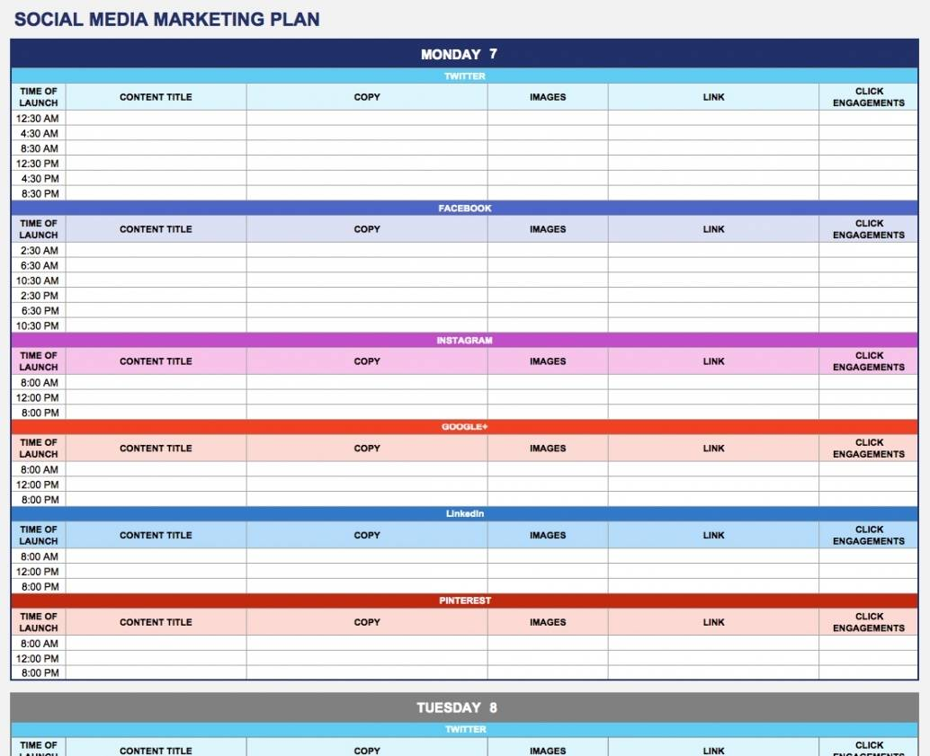 Strategy Plan Template Excel