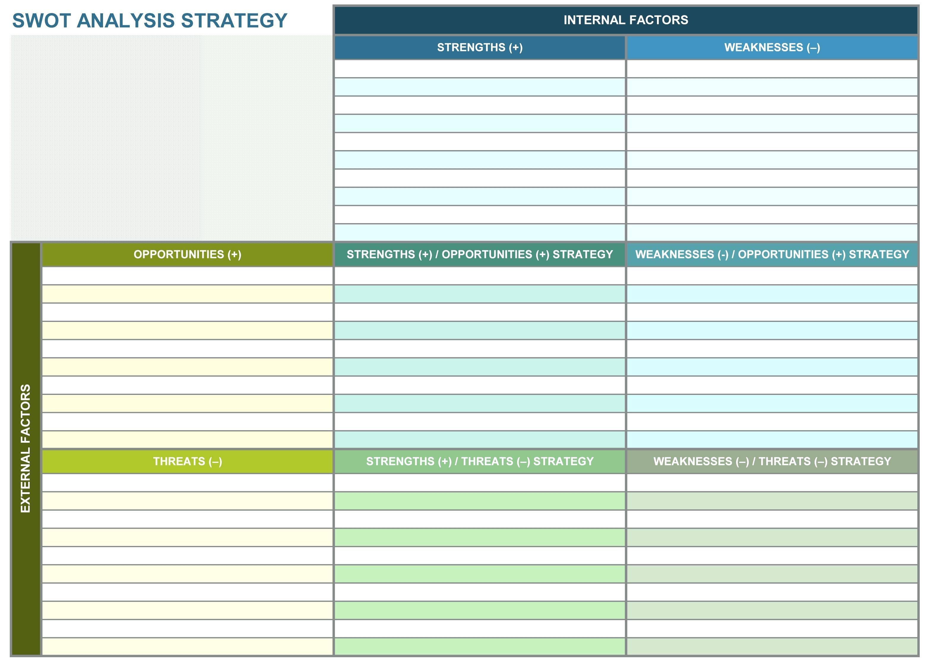 Strategy Roadmap Template Excel