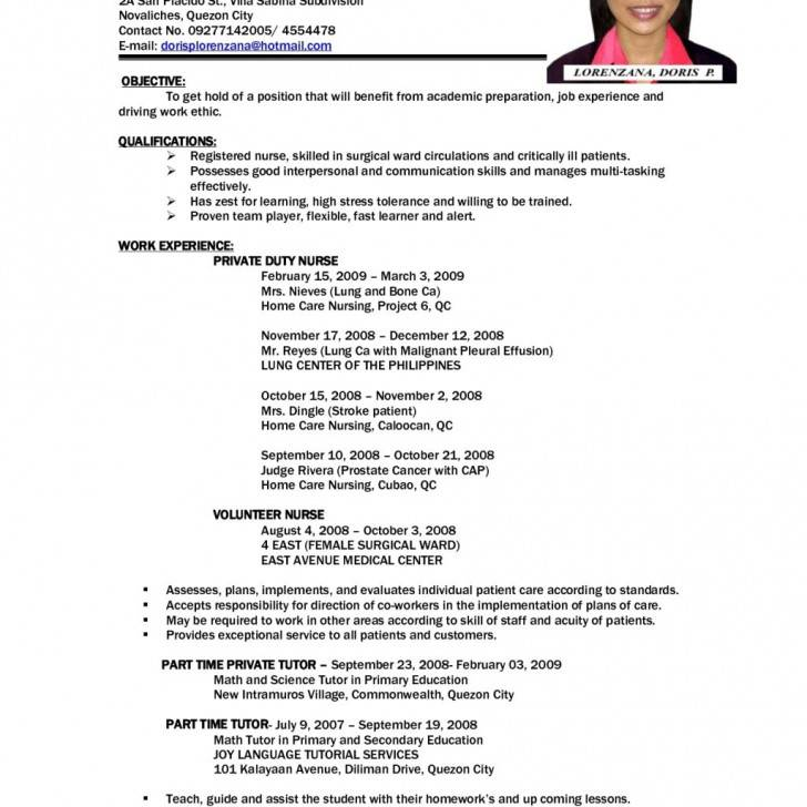 Student Cv Template For First Job Download