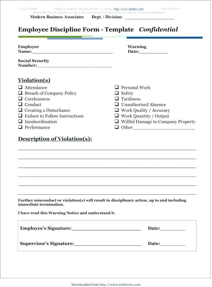 Student Disciplinary Form Template
