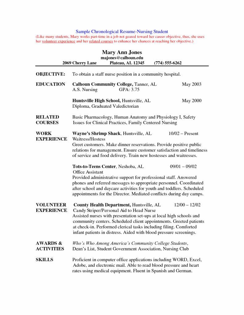 Student Nurse Resume Templates