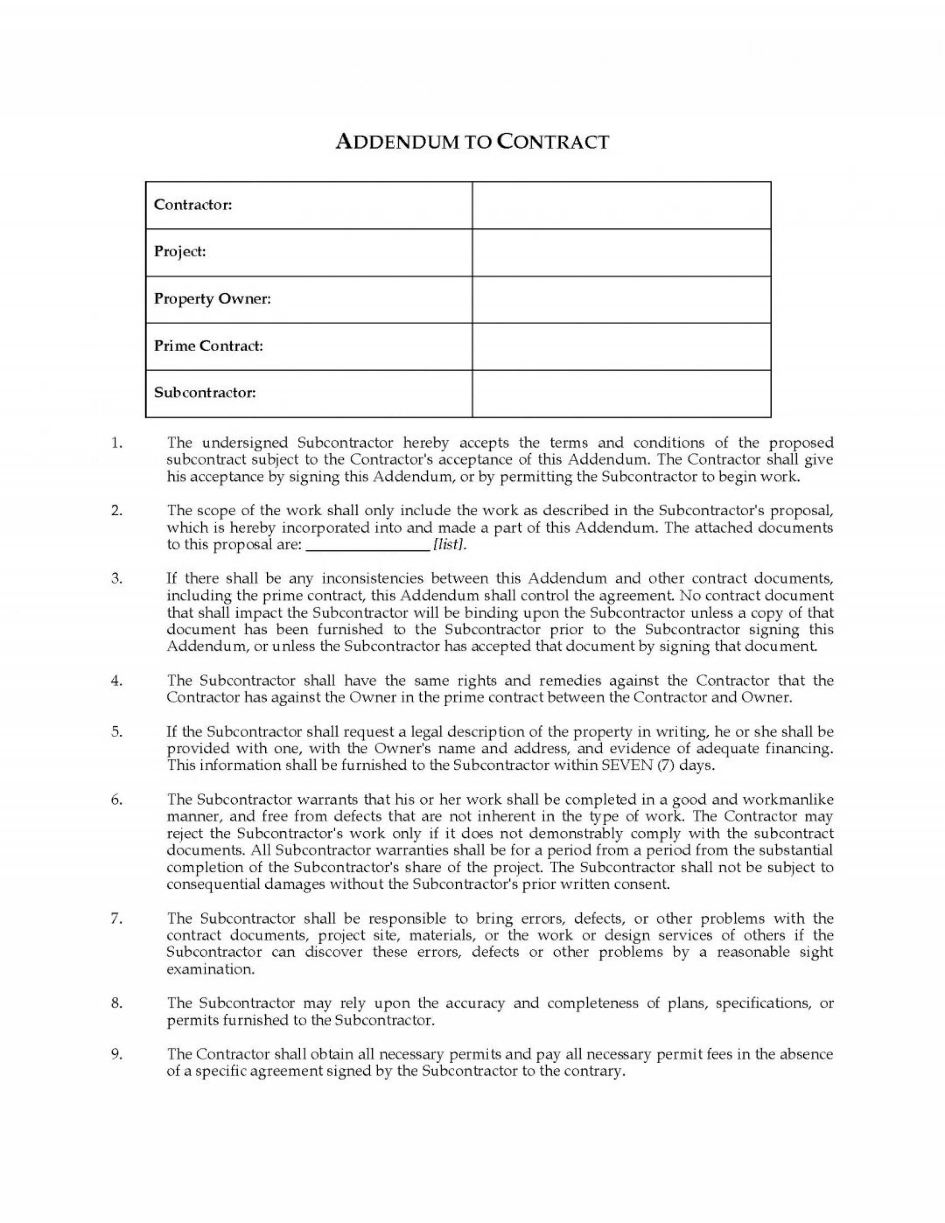 Subcontractor Agreement Template Nsw