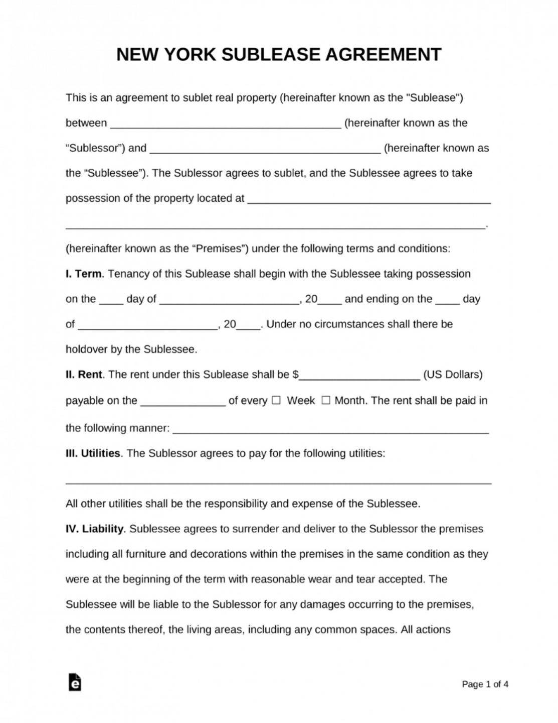 Sublease Agreement Template Ontario