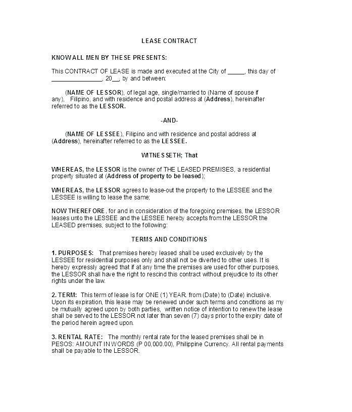 Sublease Contract Template Australia
