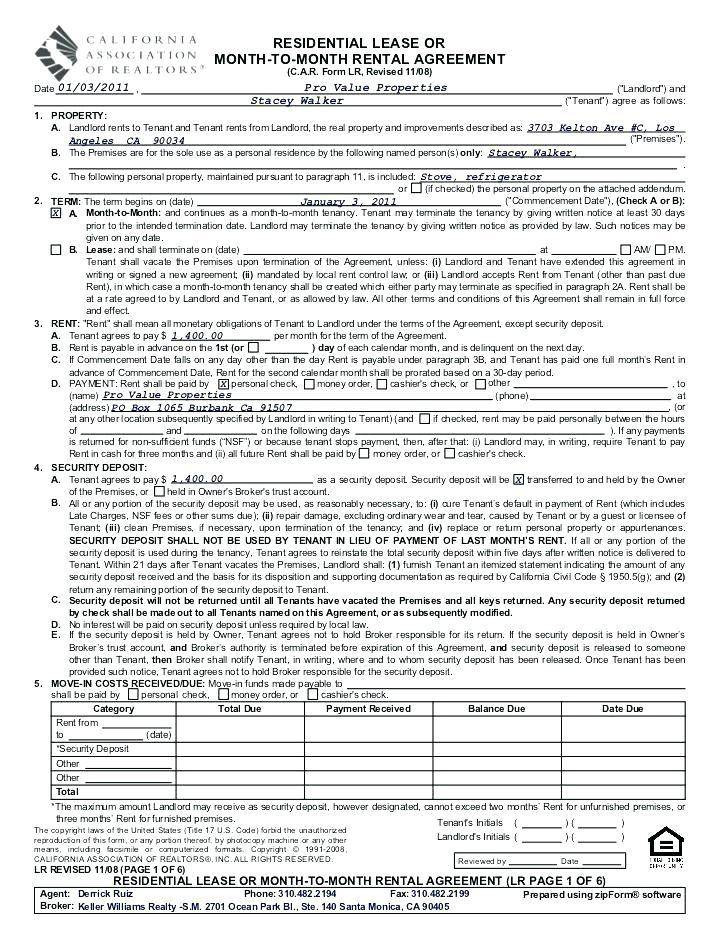 Sublet Contract Template Nyc