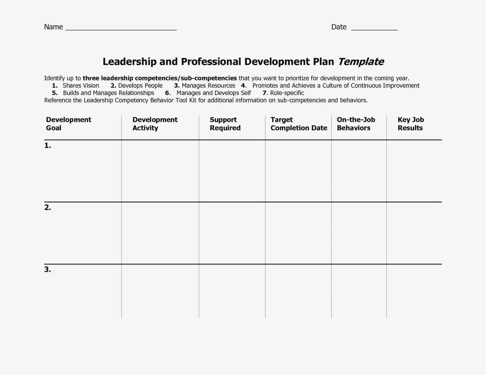 Succession Plan Form