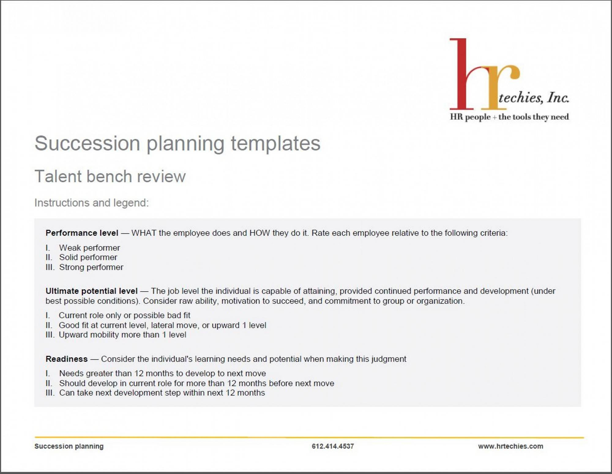 Succession Planning Template Cipd