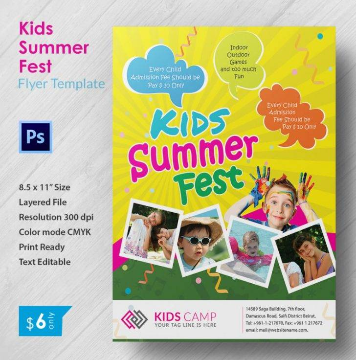 Summer Camp Brochure Template Free