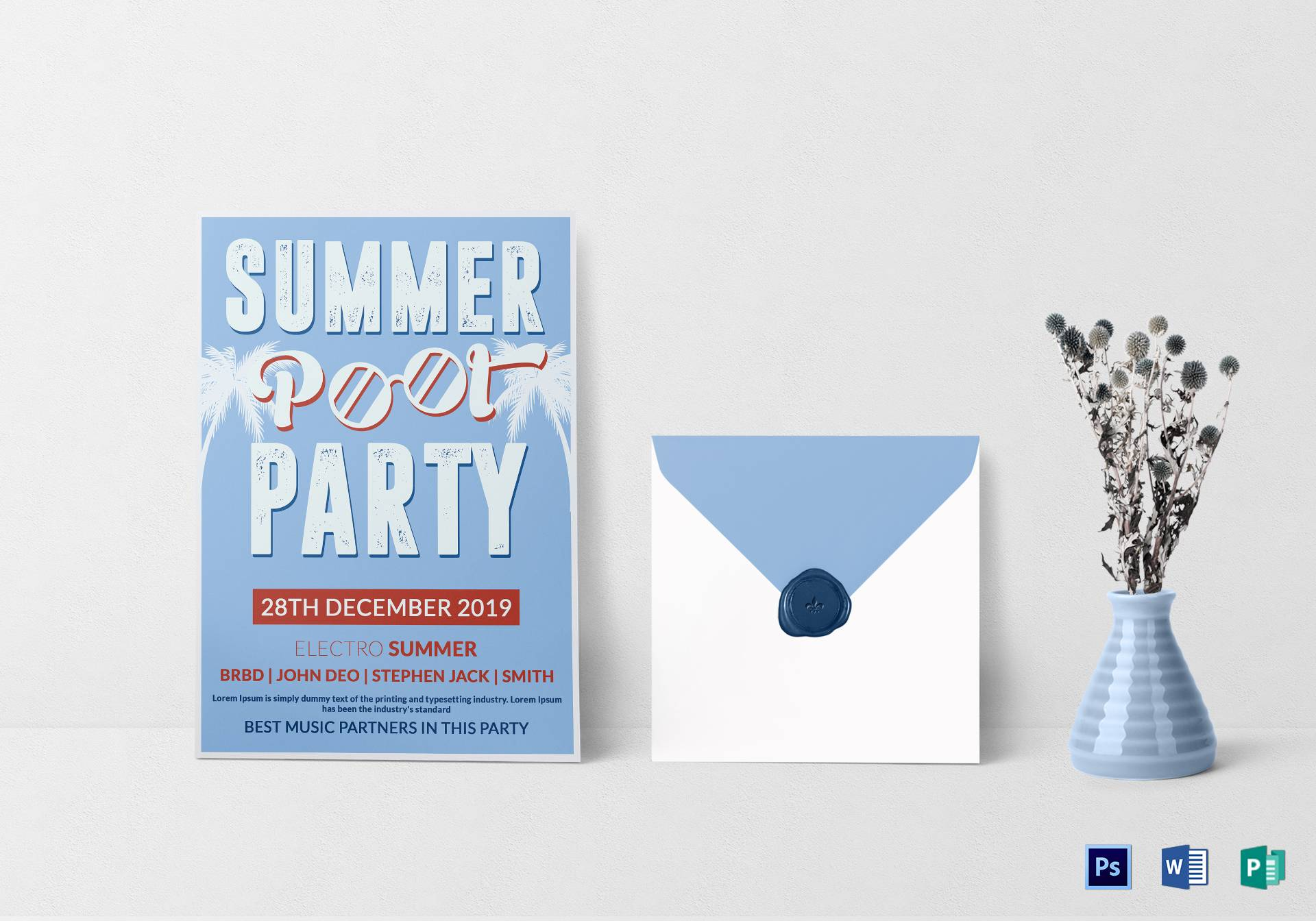 Summer Party Invitation Template Word