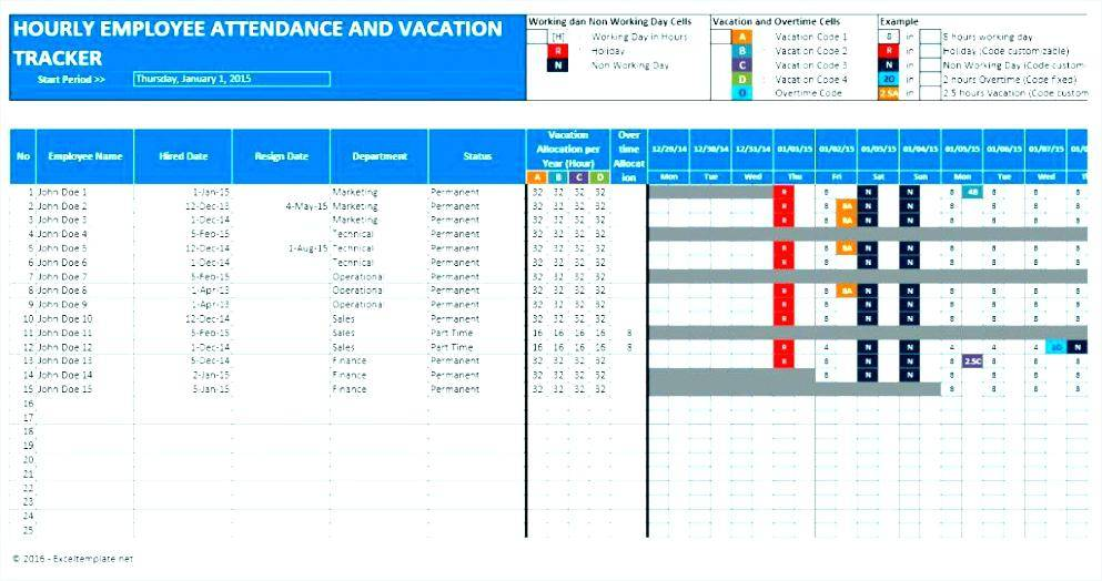 Summer Vacation Schedule Template