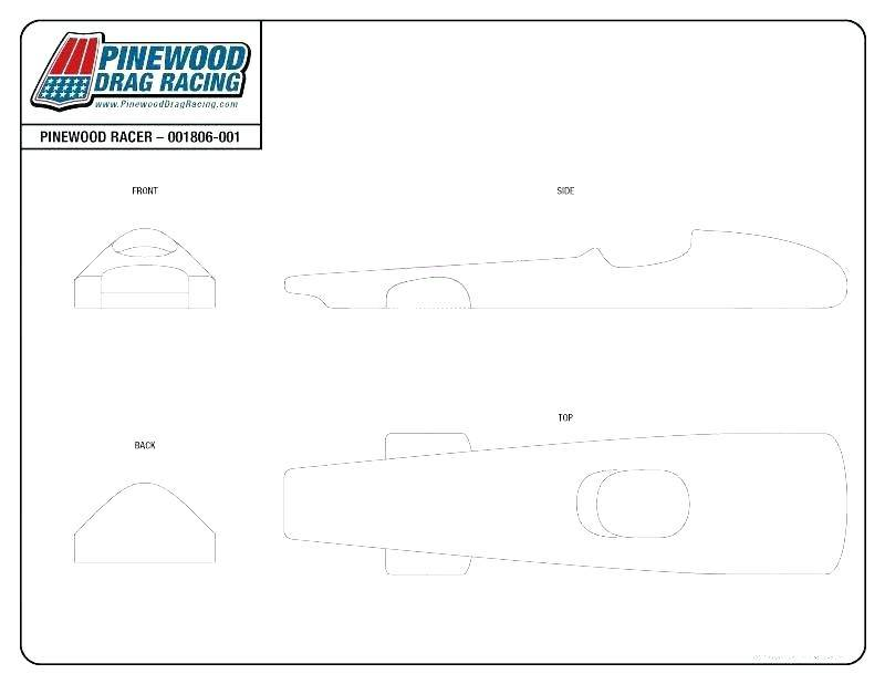 Super Fast Pinewood Derby Car Templates