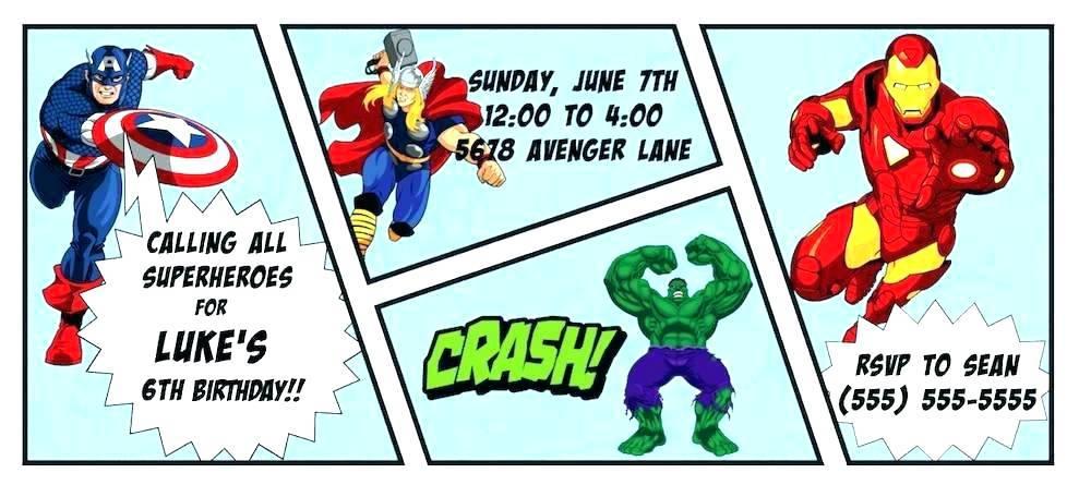 Superhero Birthday Invitation Template Free