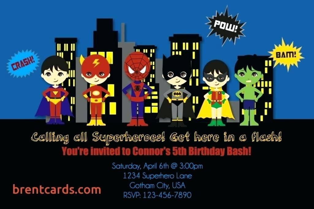 Superhero Party Invitation Template Free
