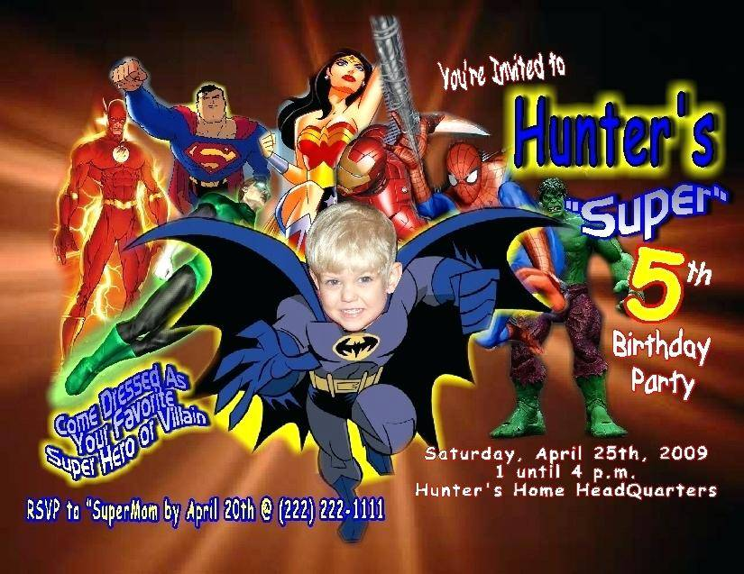 Superman Birthday Invitations Templates Free