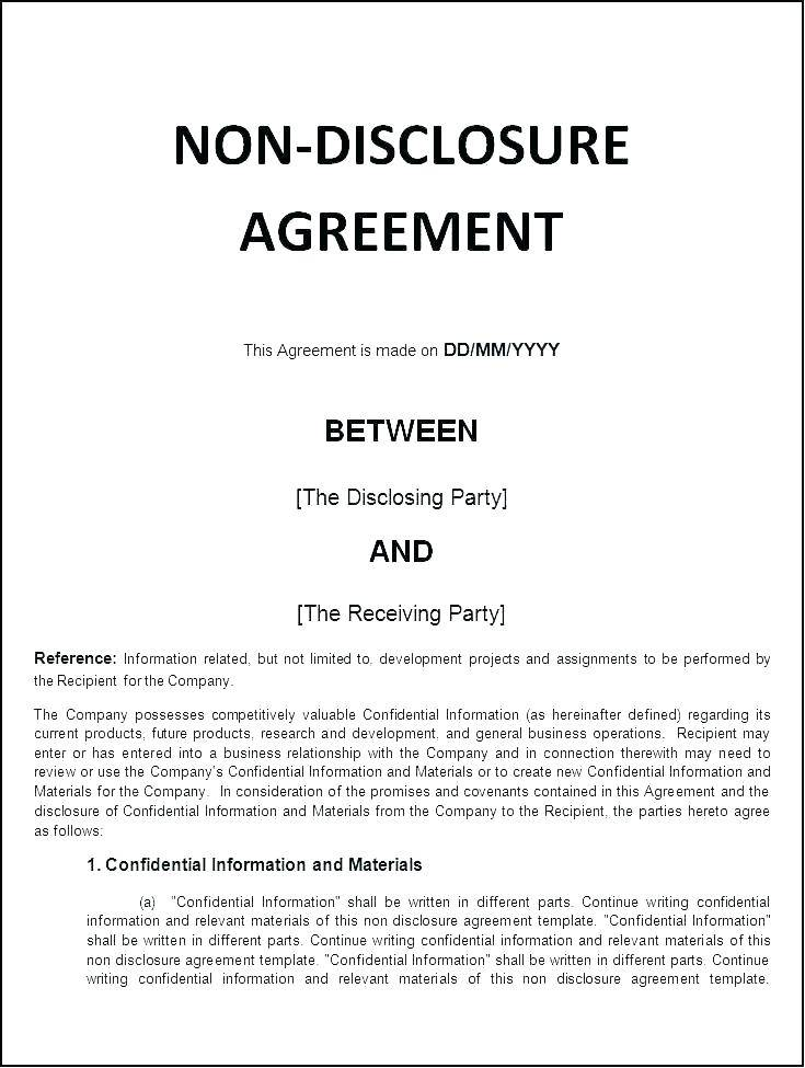 Supplier Confidentiality Agreement Template