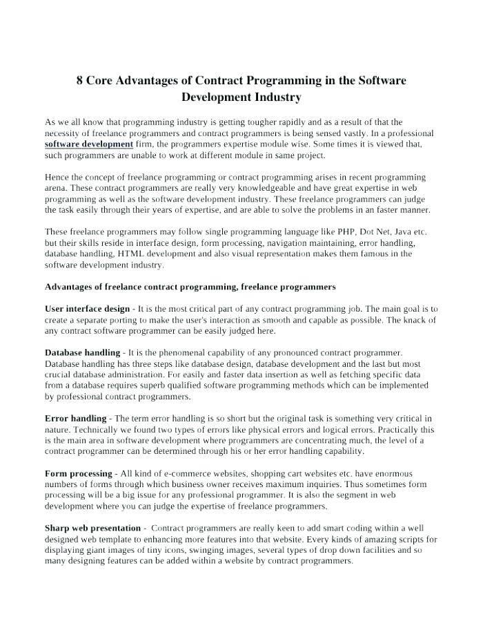 Supplier Development Agreement Template