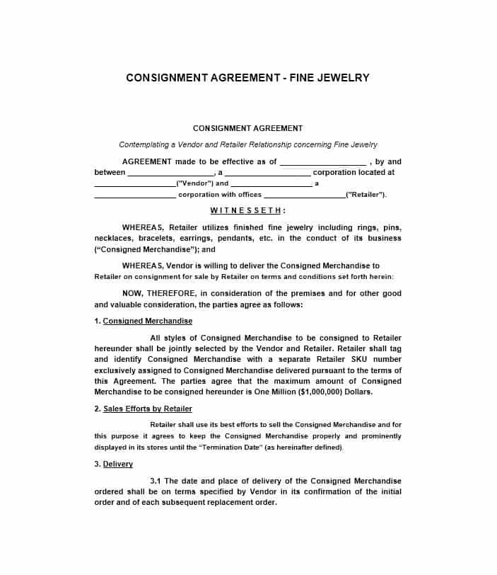 Supplier Retailer Contract Template
