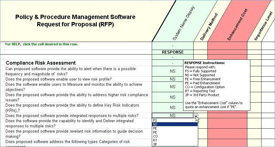 Supplier Risk Management Template