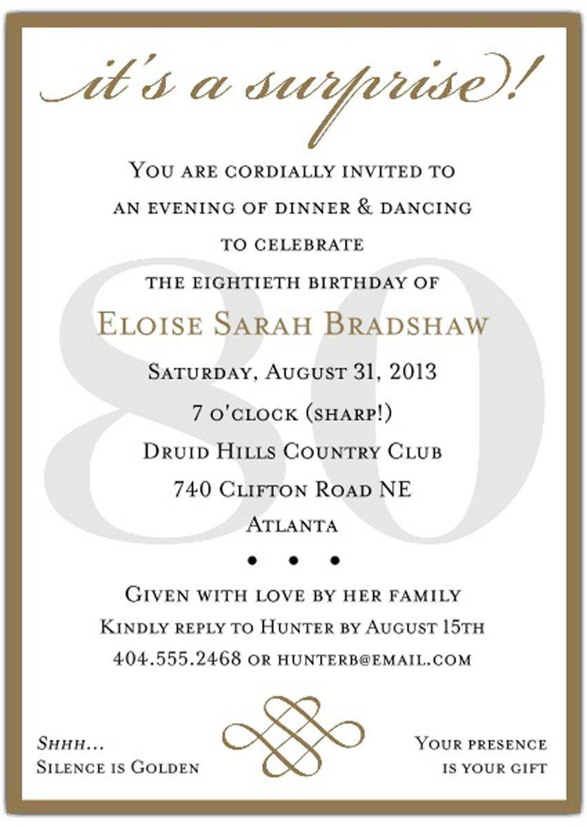 Surprise 50th Birthday Party Invitation Templates