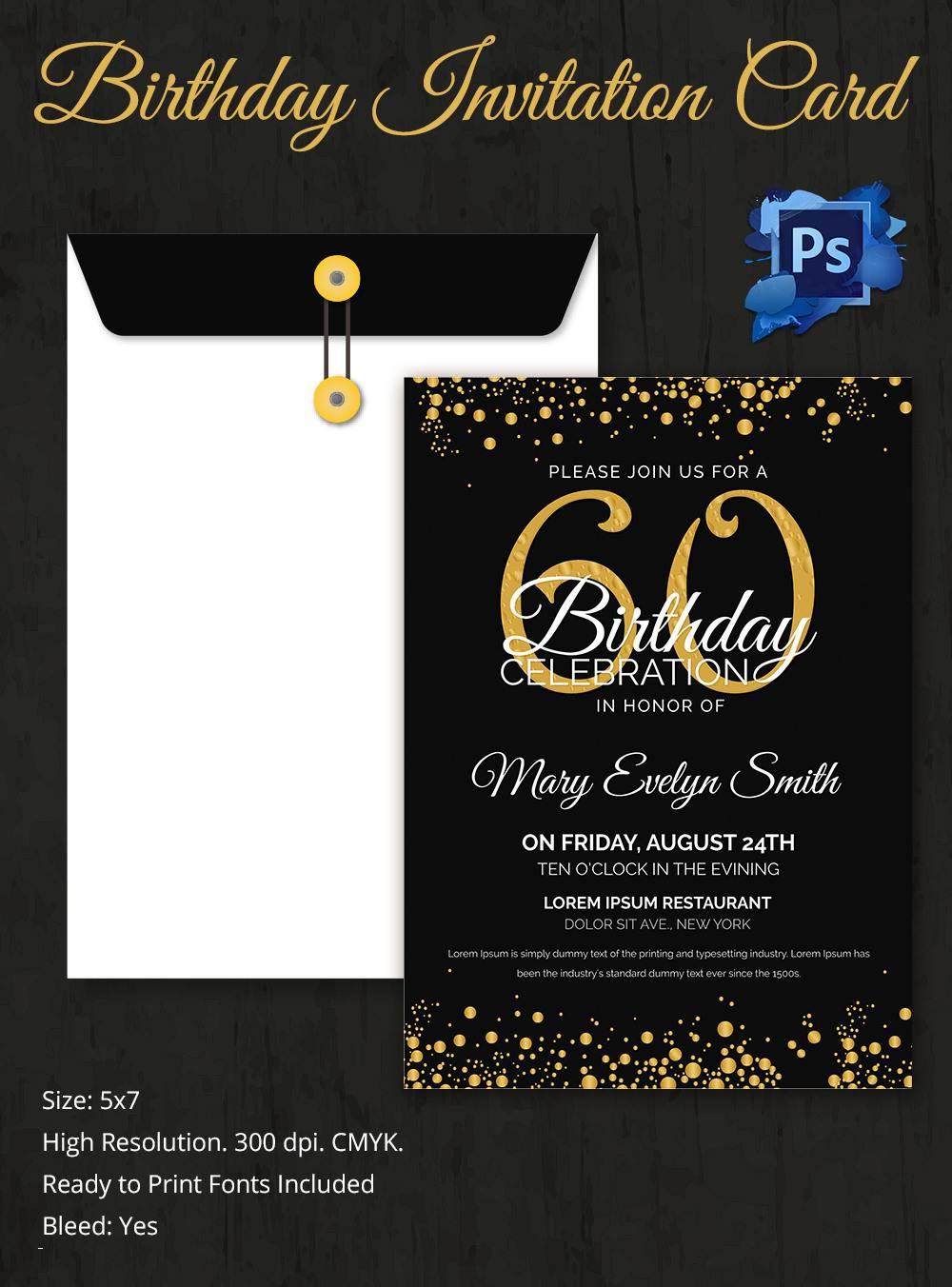 Surprise Birthday Invitation Card Template Free Download