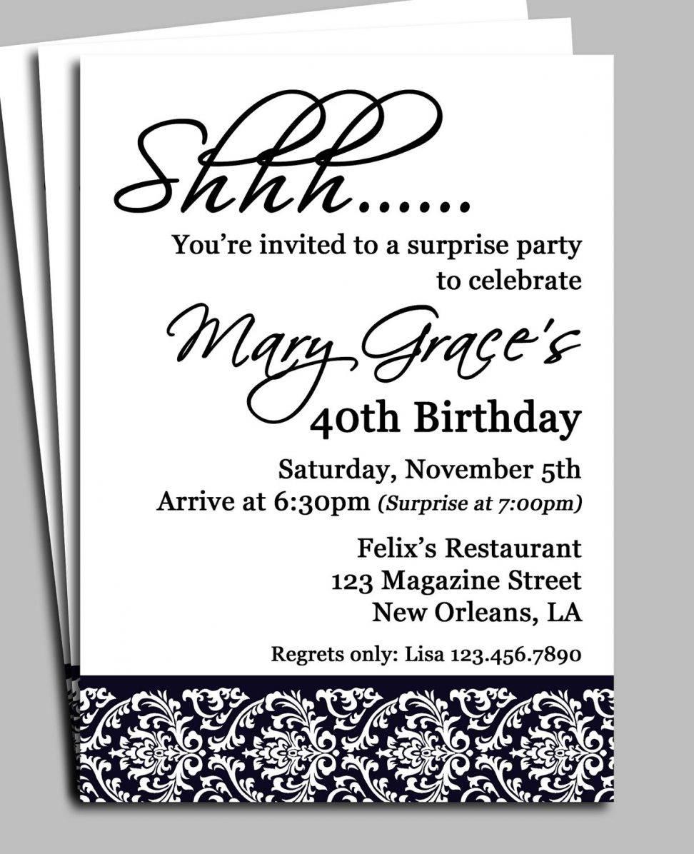 Surprise Party Invitation Maker