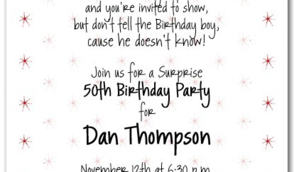 Surprise Party Invitation Templates