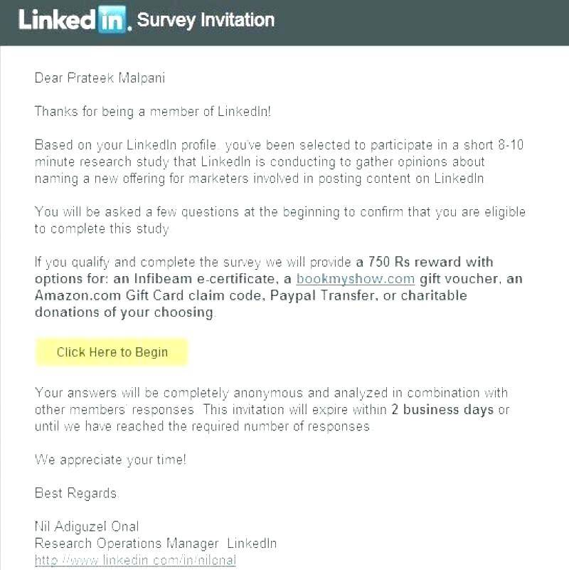 Survey Invitation Email Template
