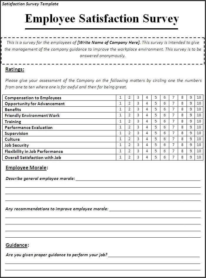 Survey Questionnaire Sample For Product