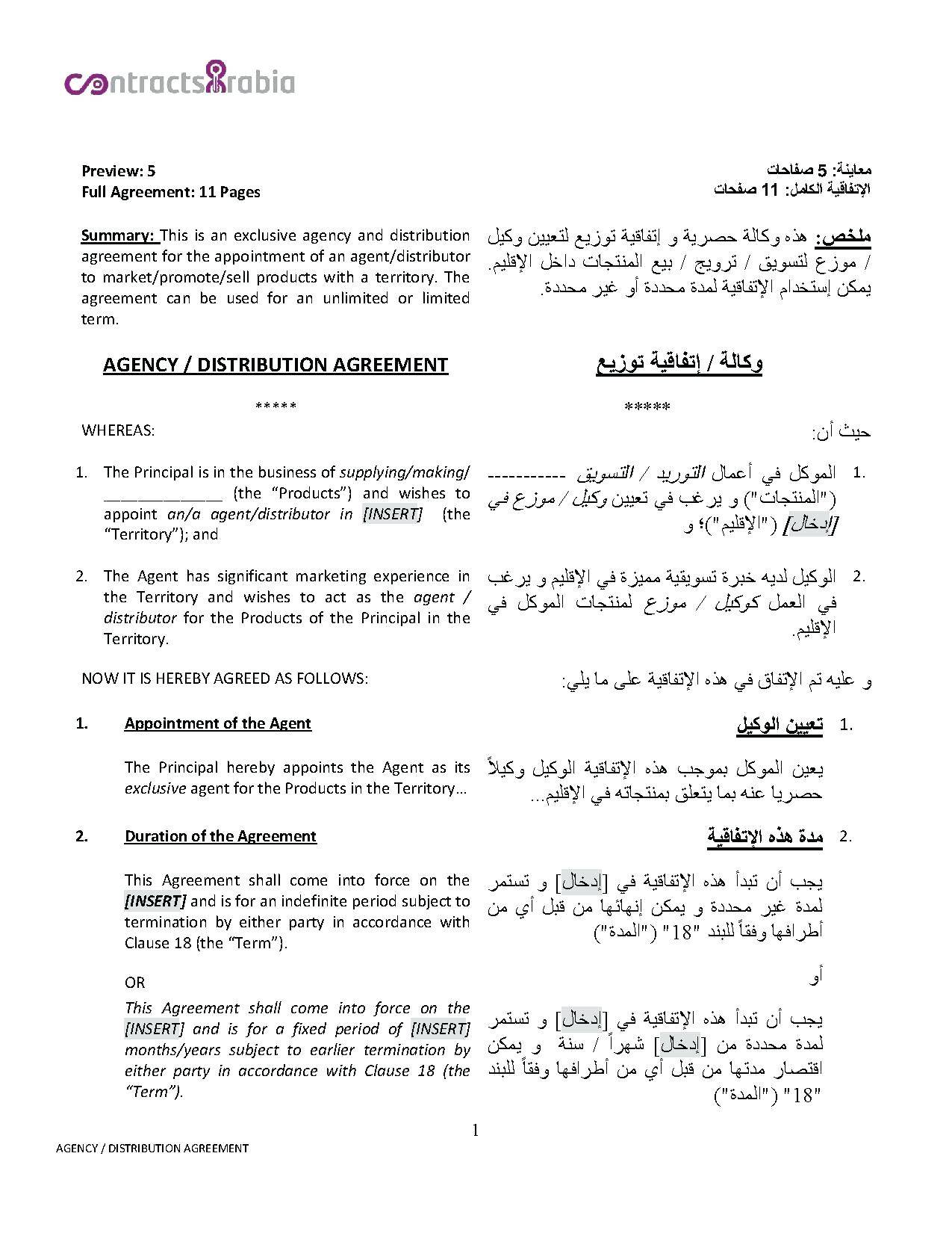 Sweat Equity Partnership Agreement Template