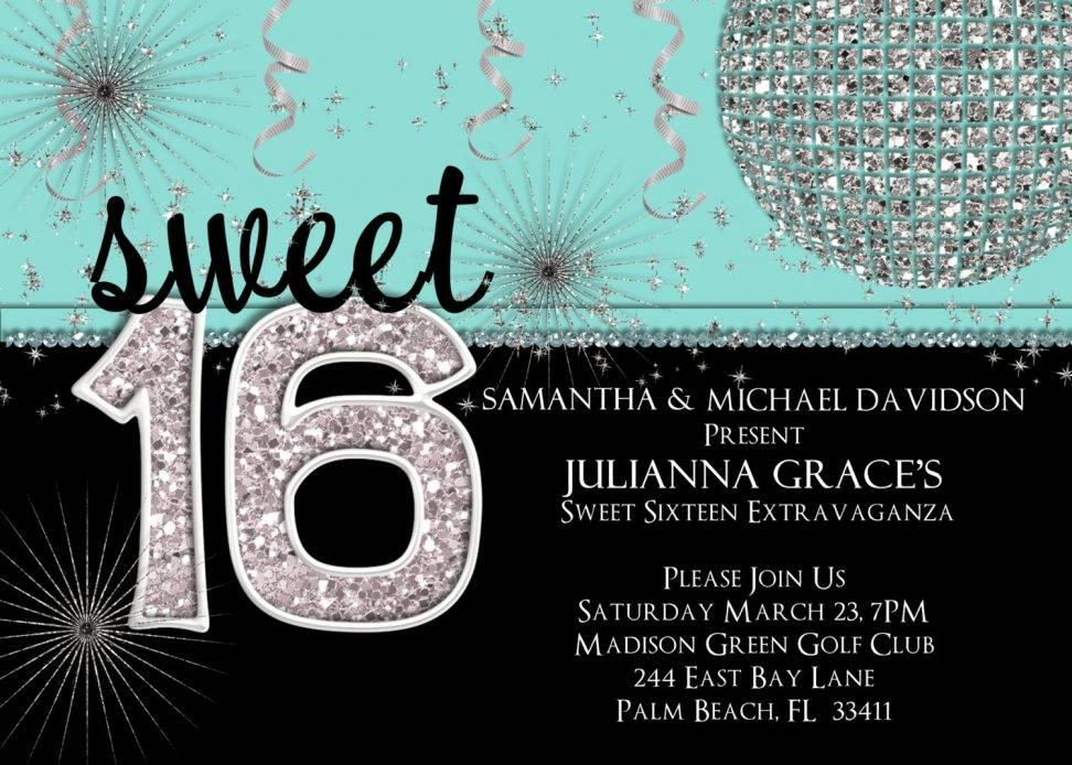 Sweet 16 Invitation Template Free