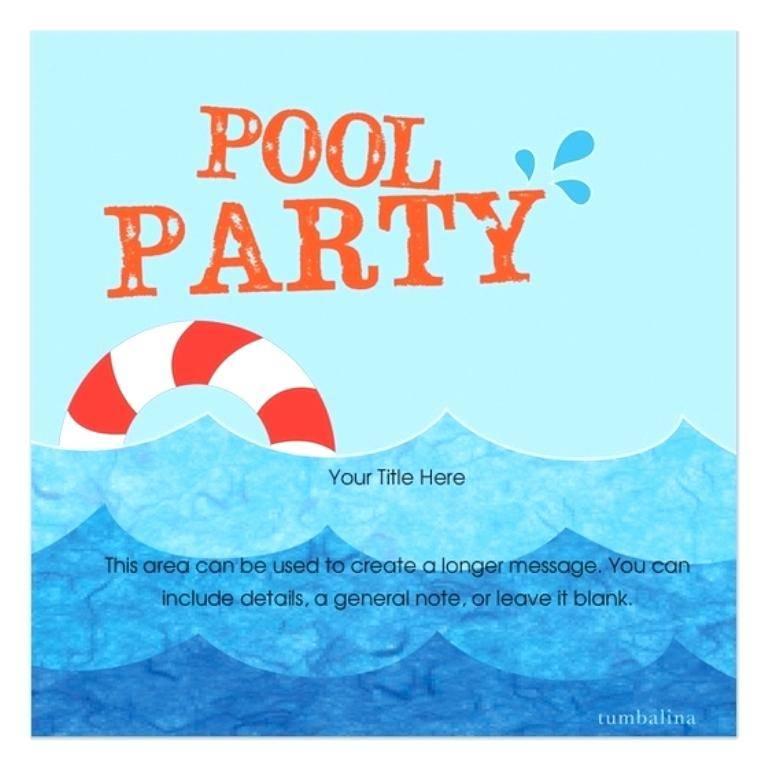 Swimming Pool Menu Templates