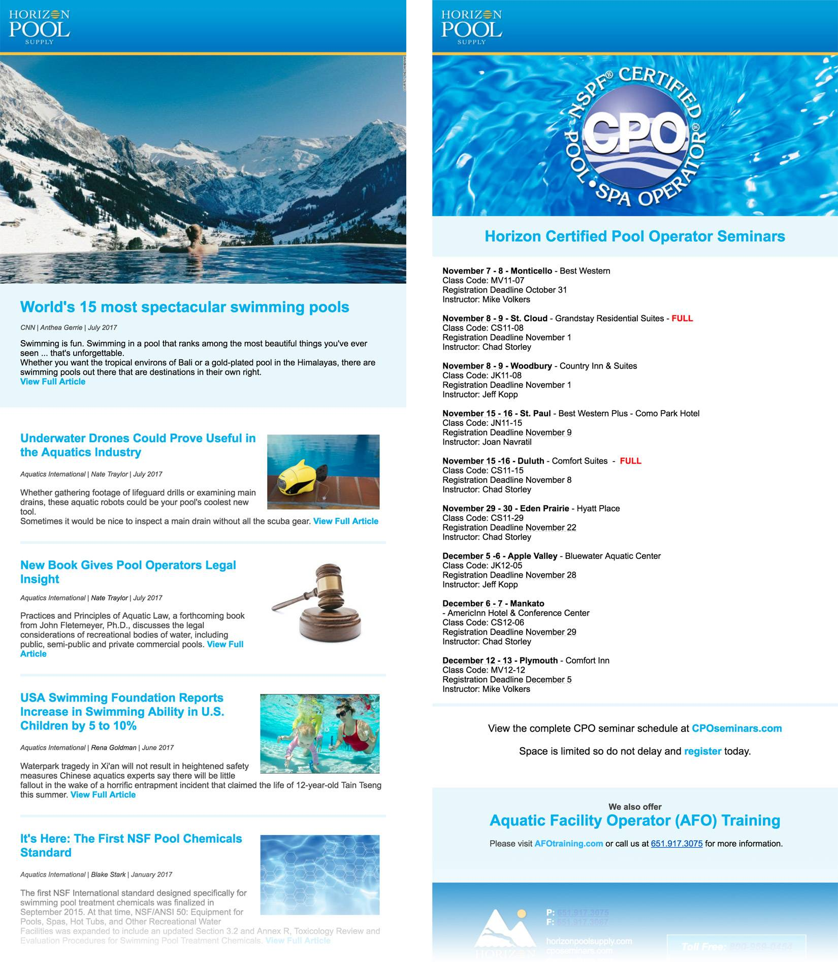 Swimming Pool Newsletter Templates