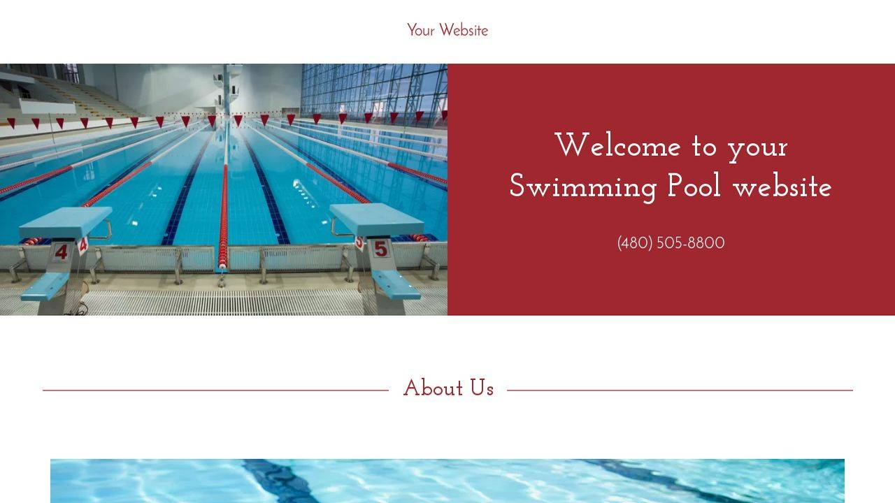 Swimming Pool Website Templates