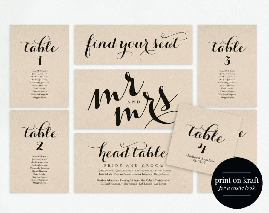Table Seating Chart Poster Template