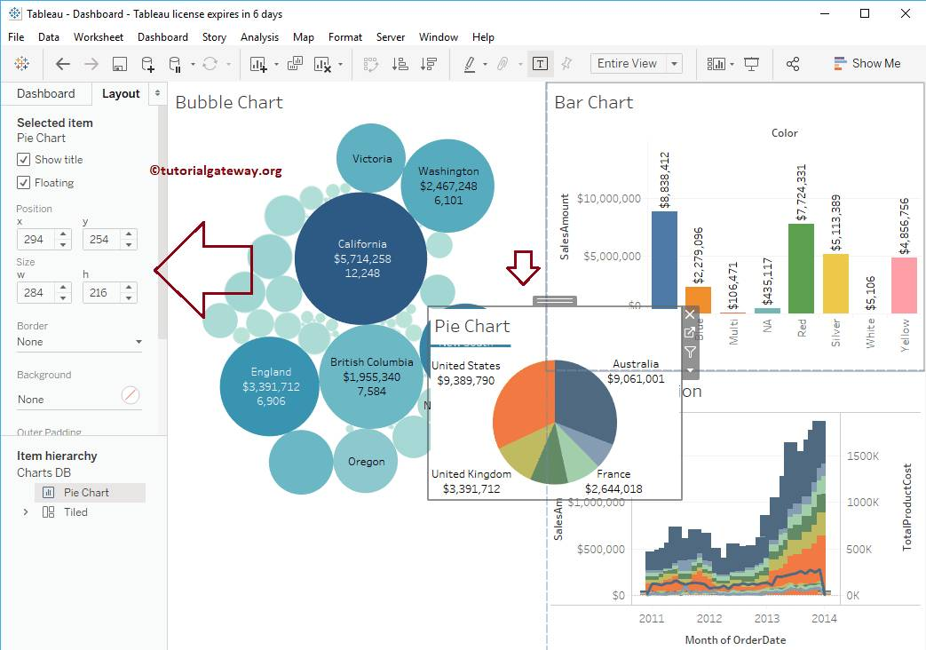 Tableau Dashboard Format Container