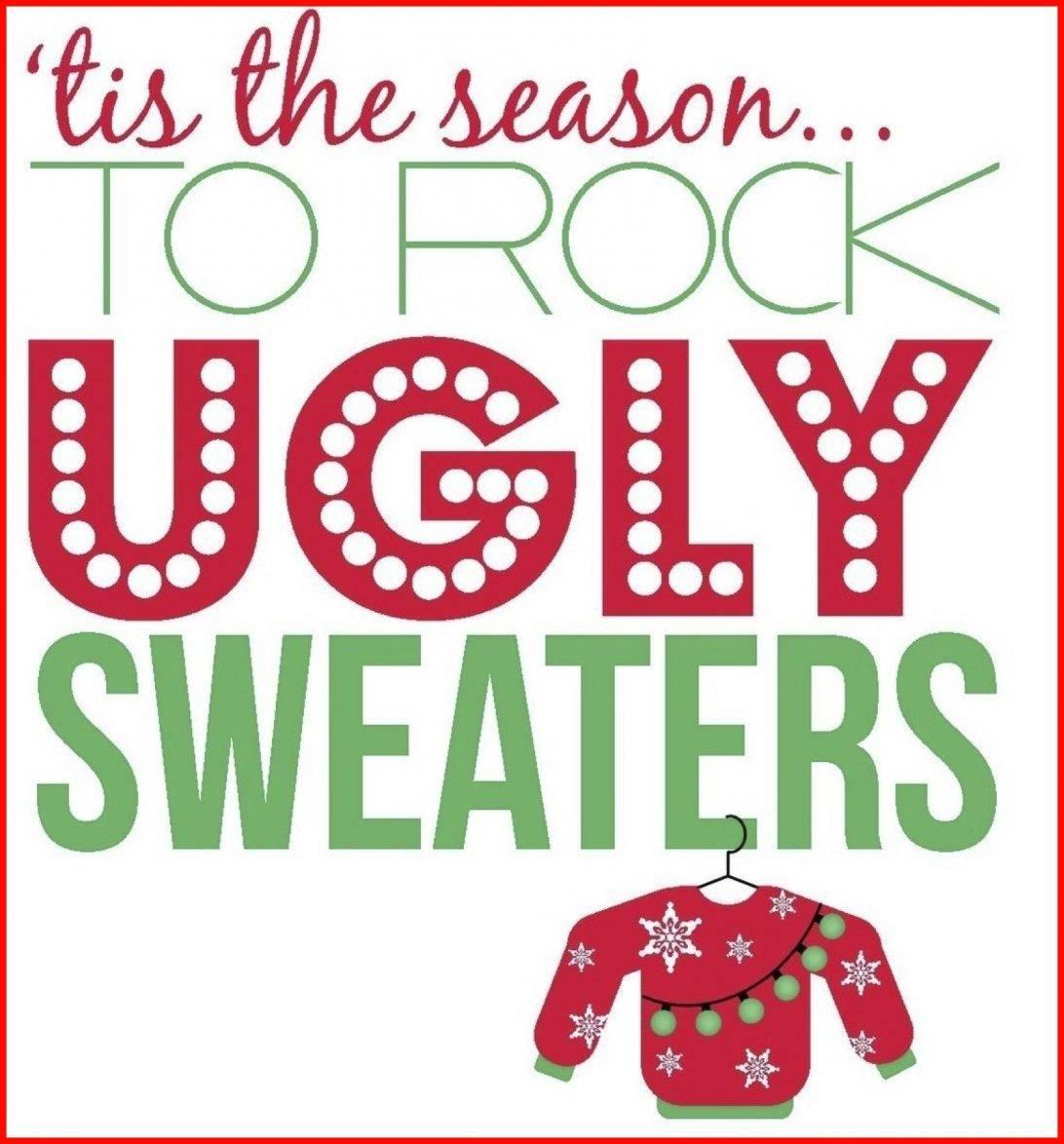 Tacky Christmas Sweater Party Invitation Templates