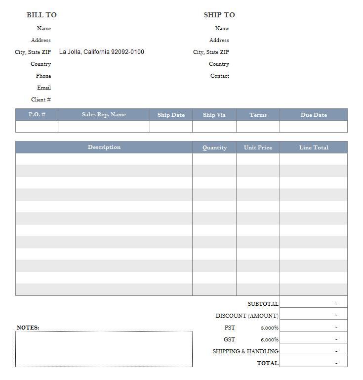 Tax Invoice Template Excel Australia