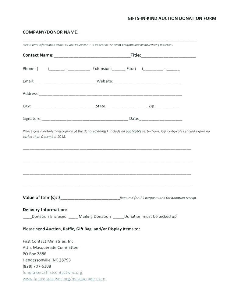 Tax Receipt For Charitable Donations Template