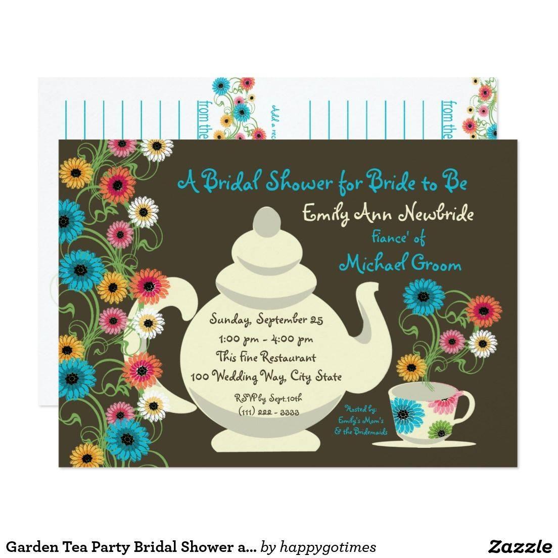 Tea Party Invitation Cards